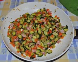 preparate il ragù di verdure