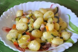 Gnocchi gialli al ragù di verdure