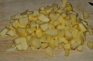 tagliate le mele a dadini