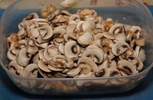Affettate gli champignon