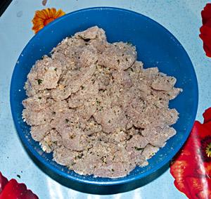 petto di pollo impanato e aromatizzato