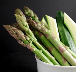 asparagi e zucchine