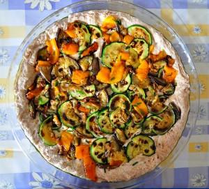 focaccia integrale alle verdure