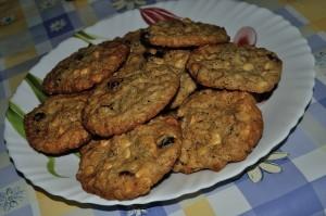 cookies mirtilli e cioccolato bianco