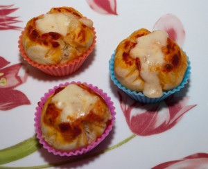 Mini pizza-muffin