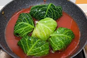 FAgottini di verza vegetariani