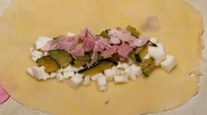 sofficini mozzarella, zucchine e prosciutto