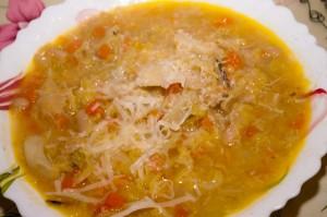 Zuppa di verza e fagioli cannellini